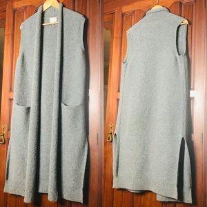 Aritzia Le fou Wilfred Long Wool Cardigan Vest